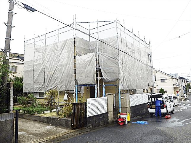 東京都練馬区にて水性セラタイトFで外壁塗装