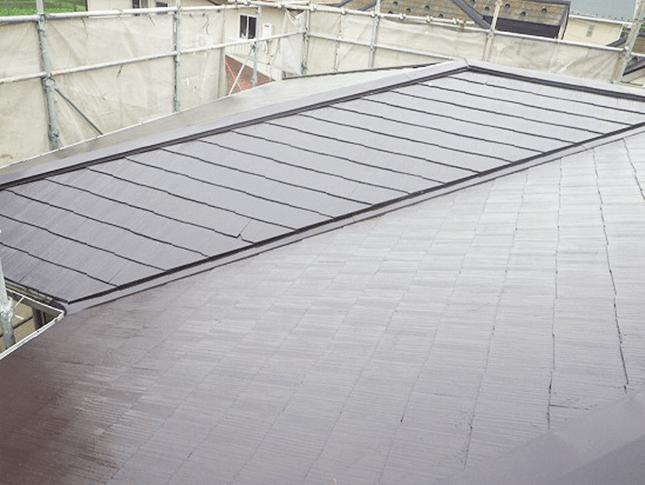 屋根の下地補修、屋根塗装3回塗り