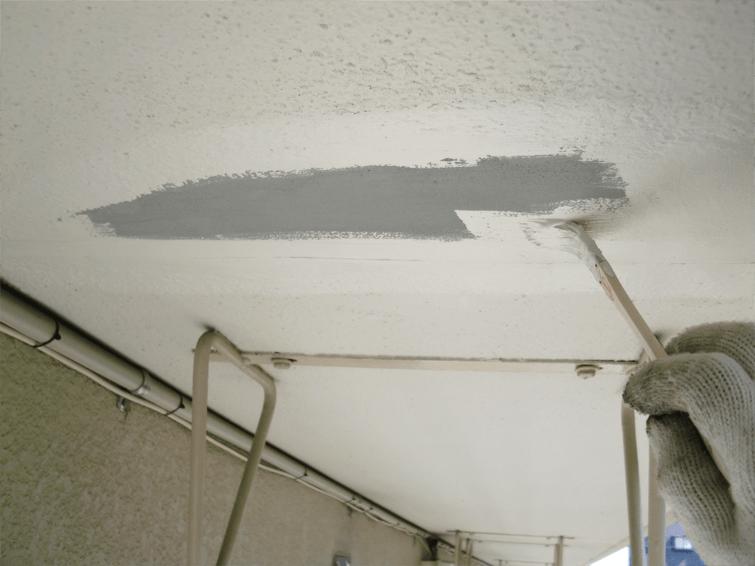 東京都文京区にてビルの天井補修