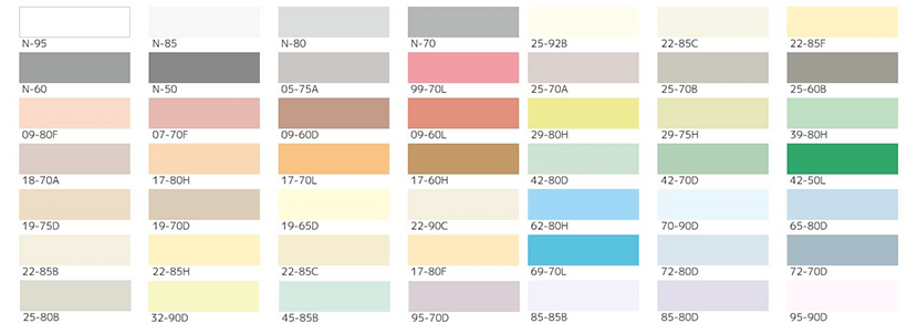 外壁塗装の色見本