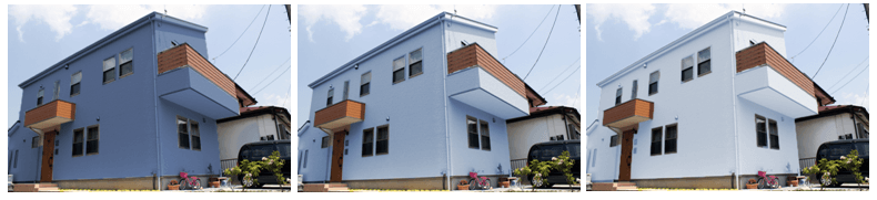 外壁塗装のカラーシミュレーション ブルー