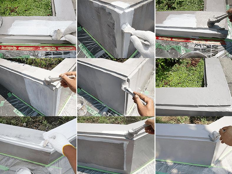 塀の補修の外構リフォーム