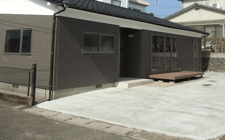 オープン外構 駐車場の外構リフォーム