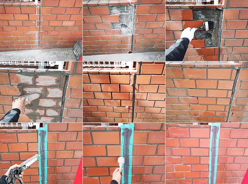 レンガ塀の補修の外構リフォーム